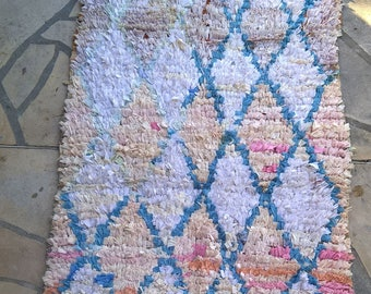 Moroccan rug boucherouite 304 ( boucharouette) 5'25'' x 2'95'' (160 x 90 cm)