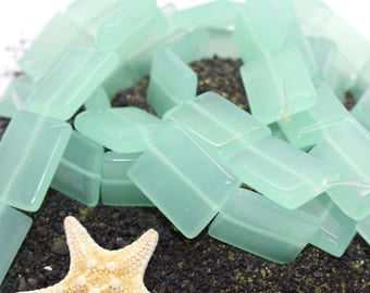 Beach Glass Beads, Aqua Blue Sea Glass Freeform Beads, Sea Glass, Beach Glass, Turquoise, Recycled Glass, Sea Glass Beads