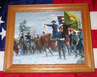 Framed Civil War Painting. Mort Kunstler, THE FIGHTING 69TH, Irish Brigade