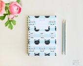 "A5 Spiral Notebook ""Miau"""