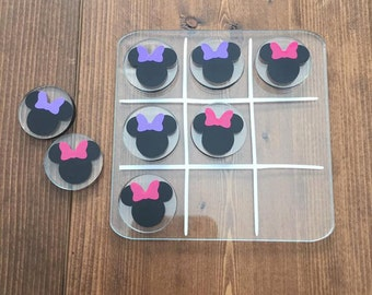 Tic Tac Toe Board Minnie Mickey Mouse inspired - Custom