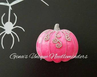 Pink Pumpkin Needle Minder
