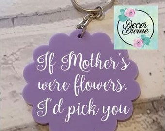 Mother Keying/mother's day/mum gift/gift for mum/personalised keyring/personalised mum/mum keyring/mother keyring/flower keying