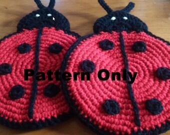 Pattern Only - Ladybug Potholder
