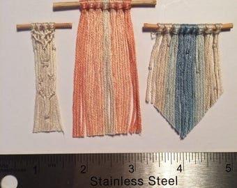 Miniature macreme wall hangings