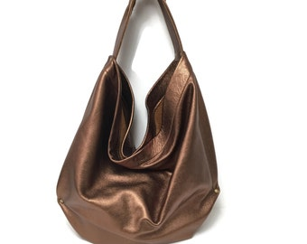 Copper Hobo Handbag