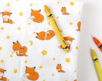Cotton Fabric Fox By The Yard