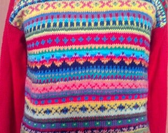 Sweater Hand Knit Man