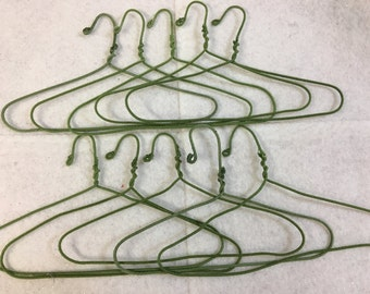"10 Doll Clothes HANGERS for 15 inch Bitty Baby or 18 inch Doll Clothes - 1 Set of 10 Hangers for 3.00 Dollars, Fits 15"" or 18"" Doll Clothes"