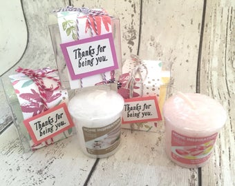Handmade Yankee Candle in a Decorated Mother's Day Thank You Gift Box for Presents Birthday Gift
