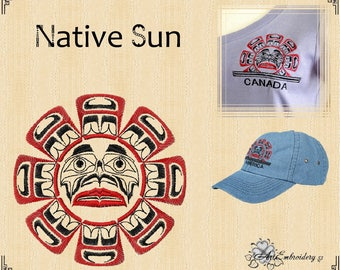 Native Sun - Pacific Northwest Native American Sun designs Set based of First Nation Art.