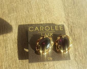 Carolee Lux Amethyst Clip On Earring