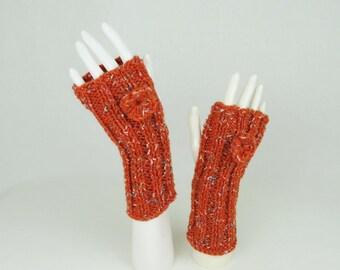 Knit Fingerless Gloves – Hand Knitted Texting Gloves, Driving Gloves, Hand Warmers, Stocking Stuffers, Fingerless Mittens
