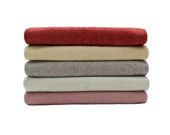 McAlister Textiles Herringbone Semi-plain Wool-look Throw Rug Blankets & Runners- Red, Charcoal Grey, Sky Blue, Sage Green, Lilac Purple