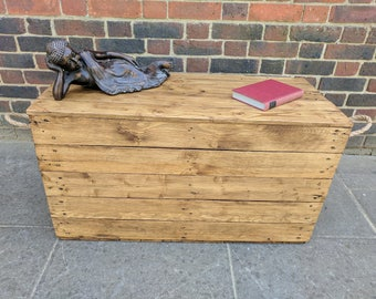 Handmade Rustic Storage Trunk Hope Chest Bench Seat made From Reclaimed Wood made to order