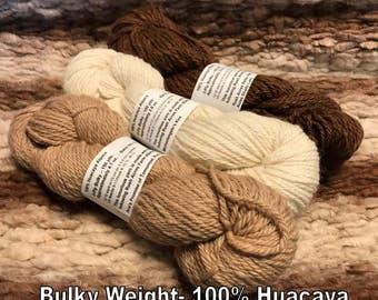 Alpaca Yarn- Bulky- Natural Colors