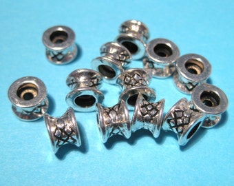 Antique Silver Infinity Link Connector Charms 18x8mm