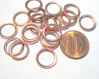 20pcs Rose Gold Closed Round Link Rings 12mm ( No.258)