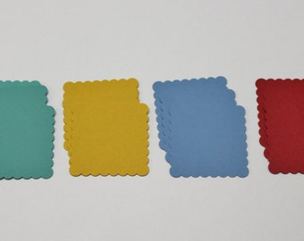 Scalloped square die-cuts pack