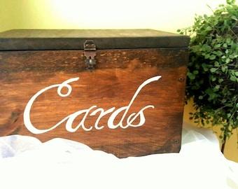 Wedding card box, Rustic wedding, Wedding decor, Lockable card box, Money box, Custom card box, Wood card box, Advice box, Personalized box