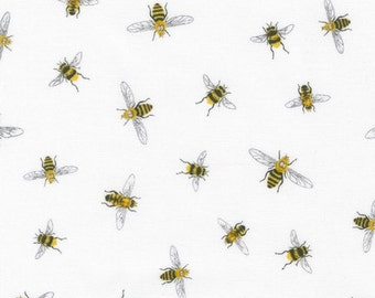 Fabric - Robert Kaufman - Everyday favorites bee cotton print - woven cotton