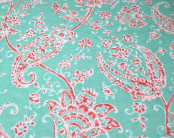 Floral Flannel Crib Sheet