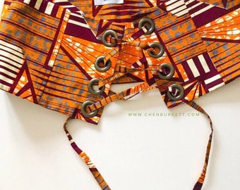 African Print Corset Belt