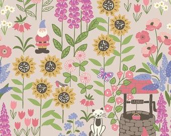 Grandma's Cottage Garden 195-2 by Lewis & Irene Fabrics Cotton Fabric Yardage