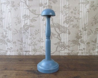 Vintage French Wooden Hat Stand - Hat / Wig Display Stand - Millinery Item - French Shop Fitting - French Wig Stand - Shabby Chic Hat Stand
