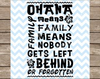 Disney SVG Ohana Means Family SVG Ohana Disney Lilo and Stitch svg Family svg Hawaii svg cut file dxf Cutting File Cricut SVG Silhouette