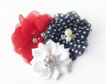 Dog collar flower, Dog collar, dog collar bow, patriotic dog Flower, Wedding Dog Flower, Bow for Dogs, Dog Bow, Pet flower, Dog Accessories