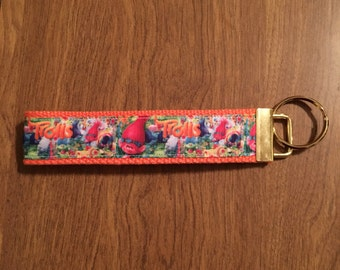 Trolls Key Chain Zipper Pull