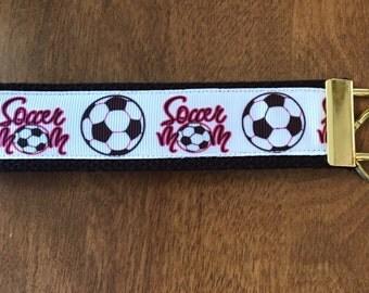 Soccer Mom Key Chain Zipper Pull Wristlet