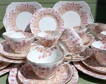Vintage Shelley - Hedgerow, Tea set for 9