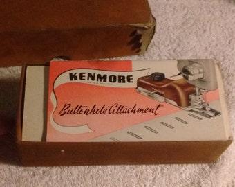 Kenmore Buttonholer, button hole attachment