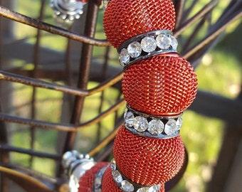 Large mesh bead bracelet