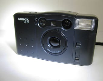 Minox CD 70 35 mm Camera with Minoctar 35-70mm Zoom Lens and Minox Case