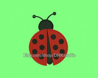 Ladybug Machine Embroidery Design - 6 Sizes - INSTANT DOWNLOAD