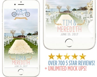 Snapchat Filter, Wedding Snapchat Filter, Tandem Bicycle, Tandem Bike Filter, Tandem Bicycle Weddings, Tandem Wedding Snapchat Filters, Bike