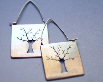 Sterling Silver Earrings Tree (big)