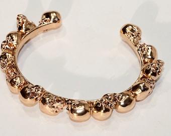 Human Skulls Bracelet- Human Skull Jewelry - Skull Sculpture - Skull Bracelet