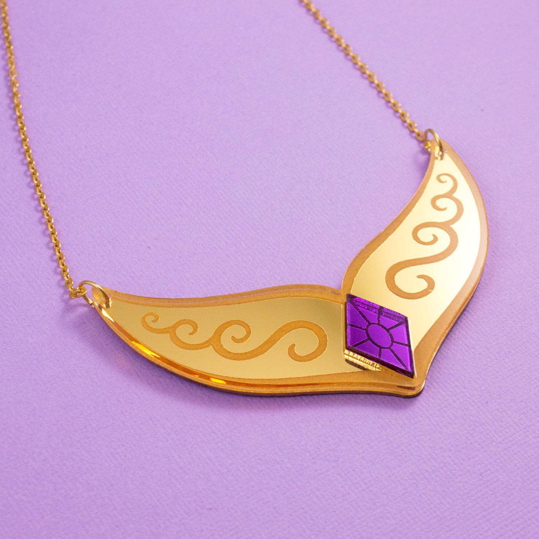 princess celestia gold necklace my pony