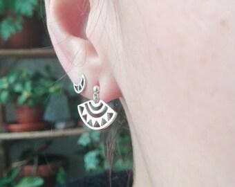 """Silver Handmade Mandala """"Uraqi""""  Earrings"""