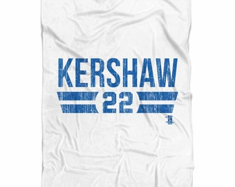 Clayton Kershaw Font B Los Angeles D Fleece Blanket MLBPA Officially Licensed