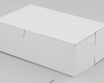 50 Bakery Candy Treats Eclair Mini Box 6-1/4 x 3-3/4 x 2 White Party Favor Boxes