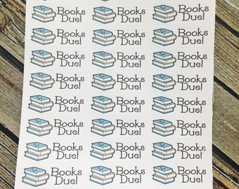 Library Books Due Planner Stickers - Functional Stickers - for use with Erin Condren - Happy Planner
