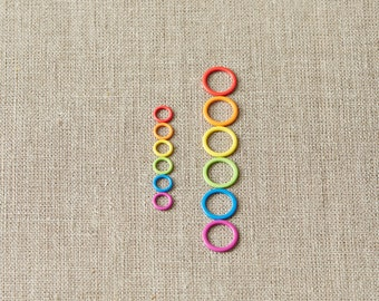 Cocoknits Colored Ring Stitch Markers - Small and Large