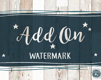 Premade Logo Watermark Add-On in Black and White