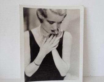 Original Vintage 1930's Silver Gelatin Photograph Constance Bennett Film Movie Star Art Deco Glamour