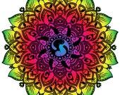 Cat Henna Mandala Colorin...